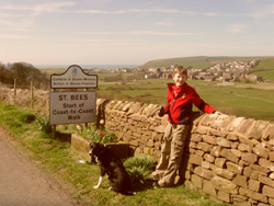 Shane & dogs & St Bees valley view